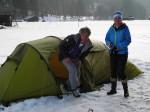 Zelt Test bei Garmisch