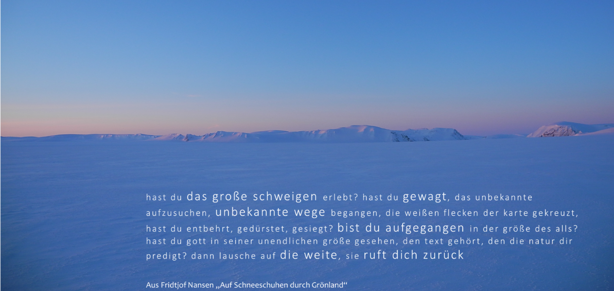 Sonnenuntergang auf der Eiskappe von Grönland